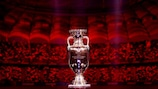 The Henri Delaunay Trophy  after the UEFA EURO 2020 draw
