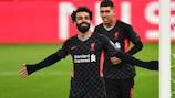 Mohamed Salah nach seinem Tor im Hinspiel