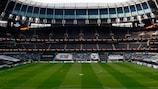 Tottenham Hotspur Stadium decked out for a UEFA Europa League night