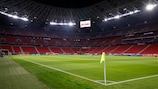 The Puskás Aréna in Budapest also staged the first leg between Liverpool and Leipzig