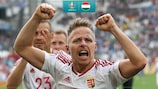 Hungary's Balázs Dzsudzsák celebrates at UEFA EURO 2016