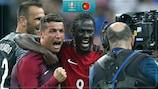 Cristiano Ronaldo and Éder celebrate victory at EURO 2016