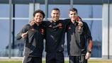Weston McKennie, Cristiano Ronaldo et Alvaro Morata (Juventus)