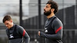 Mohamed Salah im Training am Dienstag
