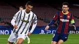 Lionel Messi (Barcelona) und Cristiano Ronaldo (Juventus) beim Duell in der Gruppenphase 2020/21