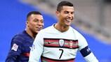 Kylian Mbappé und Cristiano Ronaldo werden sich bei der UEFA EURO 2020 erneut begegnen