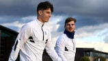 Chelsea's Kai Havertz and Timo Werner on the eve of the game