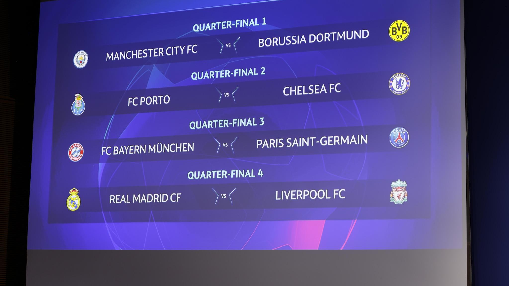 Champions League Quarter Final Draw Bayern Vs Paris Rematch Uefa Champions League Uefa Com