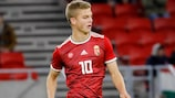 András Schäfer in action for Hungary's U21s