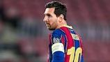 Lionem Messi soma 123 golos nas competições de clubes da UEFA