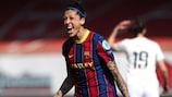 Jenni Hermoso encabeza la lista de goleadoras de la Champions femenina