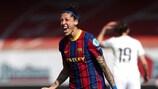 Jenni Hermoso esulta dopo il quinto gol in questa edizione