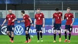 Czech Republic celebrate their goal against Italy on Matchday 1