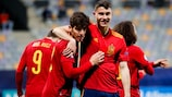 Gonzalo Villar hizo el 0-2 de España ante Eslovenia