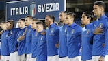 Italy line up in qualifying