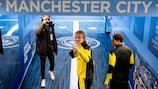 Erling Haaland and Jude Bellingham at the City of Manchester Stadium