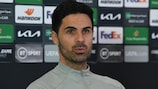 Arsenal boss Mikel Arteta says he admires Slavia's fighting spriit