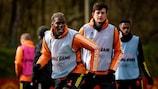 Manchester United am Mittwoch beim Training