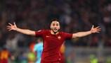 Manolas esulta dopo il terzo gol della Roma