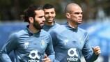 Sérgio Oliveira e Pepe in allenamento lunedì