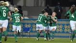 L'Irlande du Nord s'est imposée 2-1 à l'aller en Ukraine