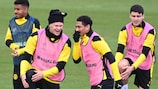 Dortmund in training on Tuesday