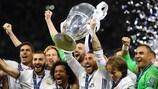 O Real Madrid venceu três títulos seguidos entre 2016 e 2018