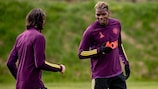 Paul Pogba in training on Wednesday