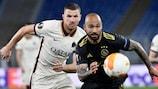Roma's Edin Džeko chases down Ajax's Sean Klaiber