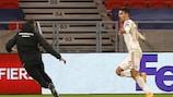 Dominik Szoboszlai jubelt über seinen Treffer, mit dem er Ungarn zur Endrunde schoss