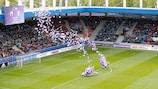 Un pubblico da record ha assistito alla partita di inaugurazione di EURO Under 17 del 2017 in Repubblica Ceca