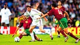 Zinédine Zidane in action against Portugal in 2000