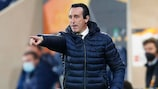 Unai Emery, entrenador del Villarreal