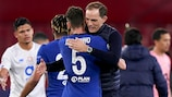 Chelsea's Thomas Tuchel will coach one of the English semi-finalists a year after leading Paris to be one of two French sides in the last four