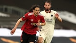 Edinson Cavani scored twice as Manchester United built up a 6-2 lead in the first leg