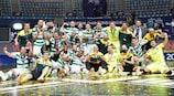 O Sporting celebra a conquista do seu segundo título