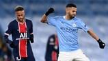 Riyad Mahrez celebrates reaching the UEFA Champions League final