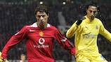Cristiano Ronaldo ai tempi del Manchester contro il Villarreal