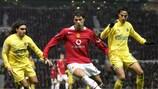 Cristiano Ronaldo im November 2005 für Manchester United gegen Villarreal
