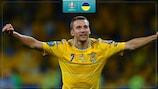 Andriy Shevchenko traf doppelt bei Ukraines Sieg gegen Schweden 2012