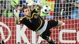 Iker Casillas em acção nos quartos-de-final do UEFA EURO 2008