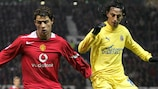 Cristiano Ronaldo in action for Manchester United against Villarreal in November 2005