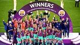 """""""Барселона"""" стала восьмым клубом, выигравшим женскую Лигу чемпионов"""