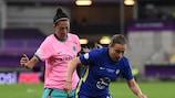 Jennifer Hermoso e Fran Kirby durante la finale di UEFA Women's Champions League