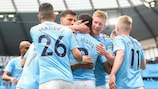 Manchester City rounded off their domestic duties with a 5-0 win against Everton