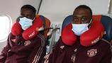 Axel Tuanzebe y Aaron Wan-Bissaka