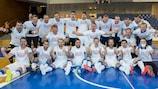 The Czech Republic celebrate qualifying
