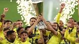 Villarreal celebrate winning the 2020/21 UEFA Europa League final