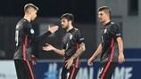 David Čolina (centre) previously scored for Croatia against Spain in a U17 EURO final tournament