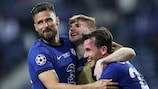 Olivier Giroud, Timo Werner and Ben Chilwell celebrate Chelsea's triumph